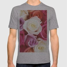 Romantic Rose Mens Fitted Tee Athletic Grey SMALL
