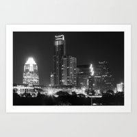 Austin - B&W Art Print