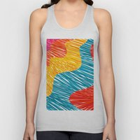 Color waves Unisex Tank Top