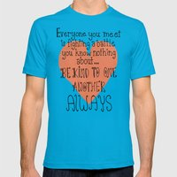 Be Kind Always Mens Fitted Tee Teal SMALL