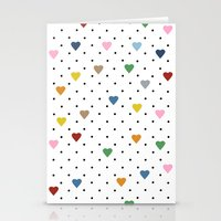 Pin Point Hearts Stationery Cards