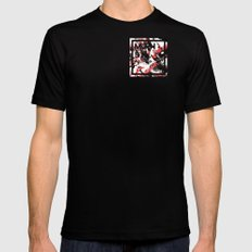 MTHSN_RED_ID SMALL Black Mens Fitted Tee