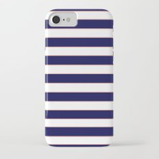 Double Stripes (Navy & Coral) iPhone 7 Slim Case