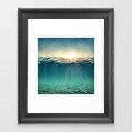 Sea Sunshine Framed Art Print