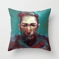 Man of the North Throw Pillow