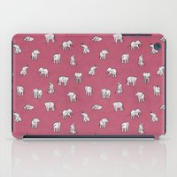 Indian Baby Elephants in Pink iPad Case