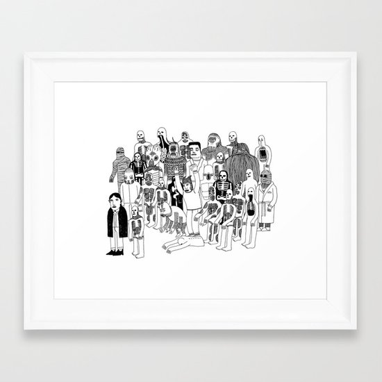 Monster Mash Framed Art Print