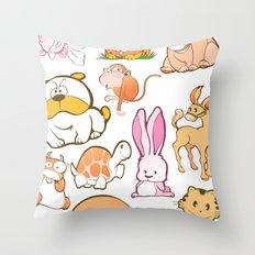 Animals! Throw Pillow