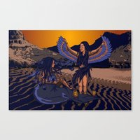 Medusa of Music meets Lilith Canvas Print