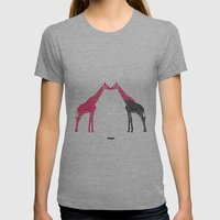 Giraffe Womens Fitted Tee Athletic Grey SMALL