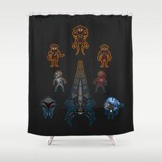 Mass Effect 2 Baddies Shower Curtain
