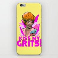 Kiss My Grits!  |  Flo  … iPhone & iPod Skin