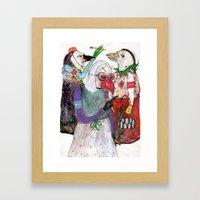 Groupuscule Moinards Framed Art Print