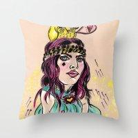 Summer's Daydream Throw Pillow