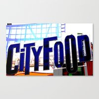 City Food Canvas Print