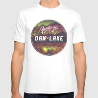 Greetings From Dan Lake … Mens Fitted Tee White SMALL