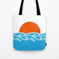 Japanese Tsunami  Tote Bag
