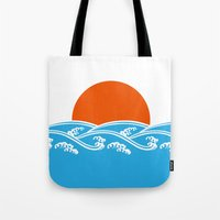 Japanese Tsunami  Tote Bag