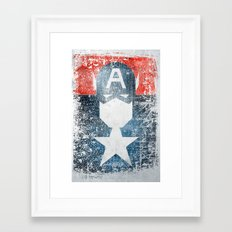 Yankee Captain grunge superhero Framed Art Print