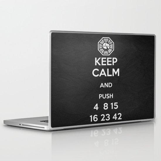 Keep Calm - Lost Poster Laptop & iPad Skin