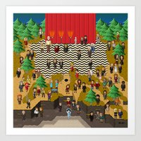 Super Twin Peaks Art Print