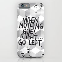 iPhone Cases featuring GO LEFT by Ylenia Pizzetti