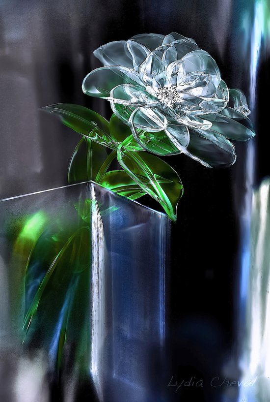 glass flower Art Print
