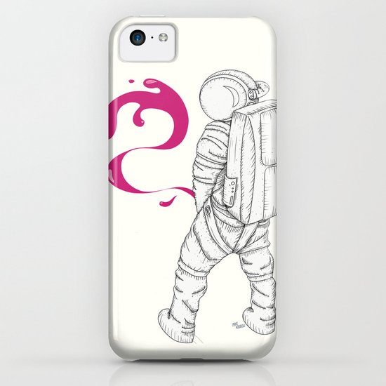 P{ee}ink in Space iPhone & iPod Case