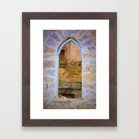 Window in Ruins Framed Art Print