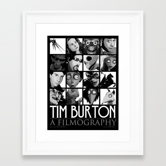 Tim Burton - a filmography Framed Art Print
