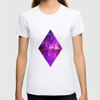 Galaxy Womens Fitted Tee Ash Grey SMALL