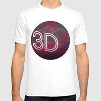3D Mens Fitted Tee White SMALL