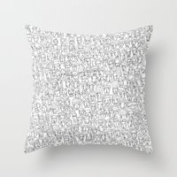 1000 imaginary friends and one bear Throw Pillow