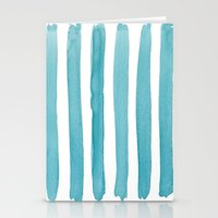 Watercolor Juicy Strokes: Teal Stationery Cards