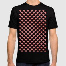 Pixel Hearts SMALL Mens Fitted Tee Black