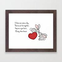 Snuggle Bunnies Framed Art Print