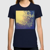 free Womens Fitted Tee Navy SMALL