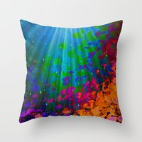 UNDER THE SEA Bold Color… Throw Pillow