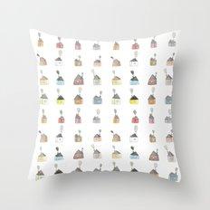 les petites maisons douillettes Throw Pillow