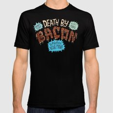 Death by Bacon SMALL Black Mens Fitted Tee