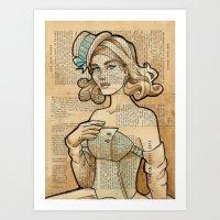 Art Print featuring Iron Woman 7 by Karen Hallion Illustrations