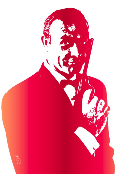 James Bond - Real Men Wear Pink Art Print