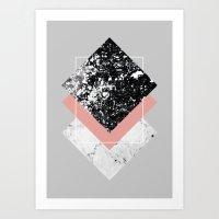 Geometric Textures 1 Art Print