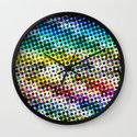 Halftone Color Chart Wall Clock