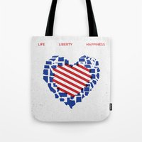 LIFE    LIBERTY    HAPPI… Tote Bag
