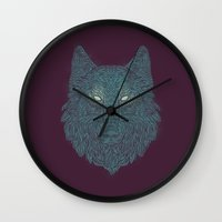 Wolf Of Winter Wall Clock