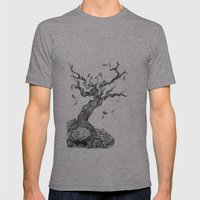 Fall Mens Fitted Tee Athletic Grey SMALL