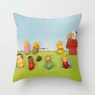 Real Peanuts Throw Pillow