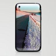 Winter Road In Vibrant C… iPhone & iPod Skin