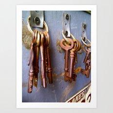 Rusted Keys Art Print